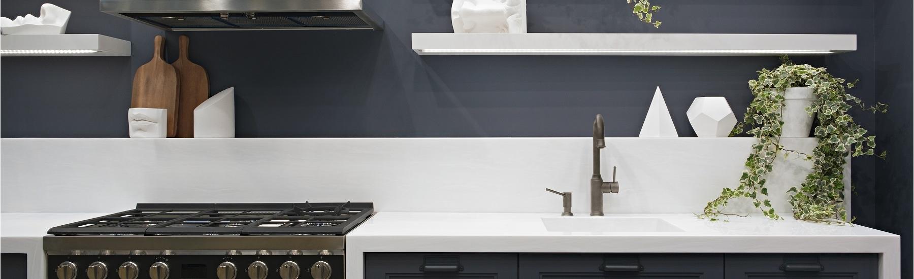 Grey and white kitchen scheme