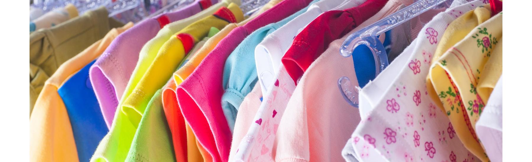 Kids clothes on hanger