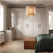 Bella Fitted Bedroom using Lincoln Sonoma Natural Oak Wardrobe Doors