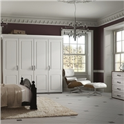 Fitted bedroom using York wardrobe doors