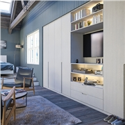 Bella Integra Oakgrain Grey Wardrobe Doors