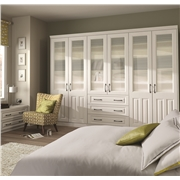 Bella Milano Super White Ash Fitted Bedroom