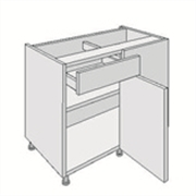 drawer line corner base unit