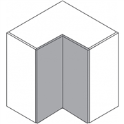 Clic Box L Shaped Corner Wall Unit
