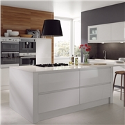 Opus High Gloss White Fitted Kitchen