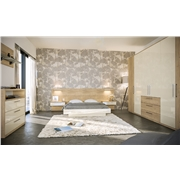 Zurfiz Halifax Natural Oak & Ultra Gloss Cream Bedroom