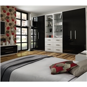 Zurich Ultra Gloss Black & White Wardrobe Doors