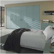 Zurfiz Ultra Gloss  Metallic Blue fitted bedroom