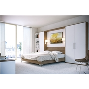 Zurfiz Gladstone Tobacco Oak & Supermatt White Bedroom