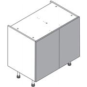 Clic Box Hi Line Double Base with Firbeck Doors