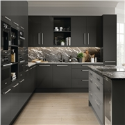 matt graphite fitted Firbeck kitchen