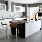 Bella High Gloss White Kitchen