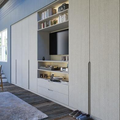 Bella Integra Bedroom Doors finished in Oakgrain Grey