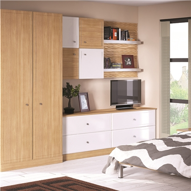 Bella Euroline Natural Oak Fitted Wardrobe Doors