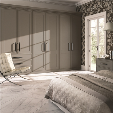 Bella Tullymore Matt Stone Grey Fitted Bedroom