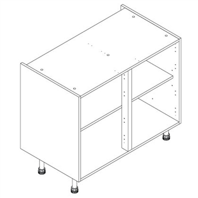 Door/Drawer Line Double Base Unit