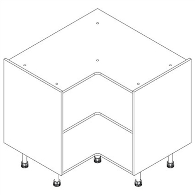 L-shaped-corner-base