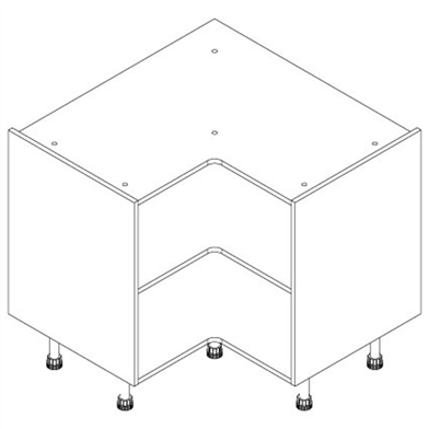 L Shaped Corner Base Unit