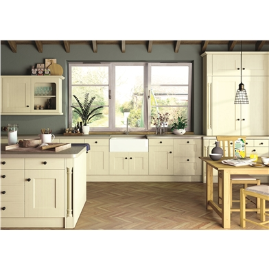 Oakgrain Cream Cambridge 2 Kitchen