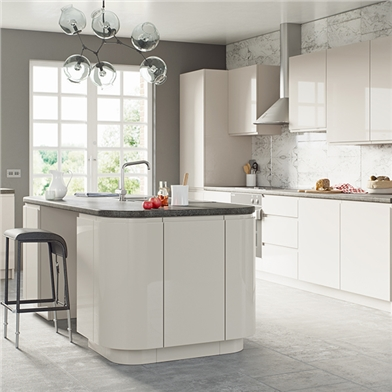 Opus High Gloss Cashmer Fitted Kitchen