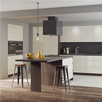 Opus High Gloss Mussel Fitted Kitchen