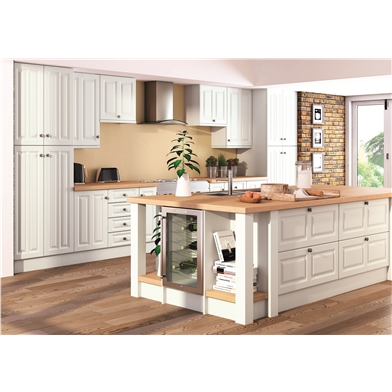 Super White Ash Milano Fitted Kitchen