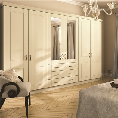 Open Framed Wardrobe Doors & Made to Measure Wardrobe Doors suitable for mirrors and glazing