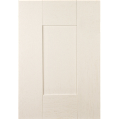 Pronto Wilton Woodgrain White/Paintable Sample Door