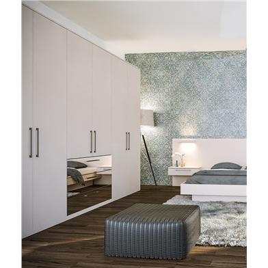 Zurfiz Supermatt Cashmere Mirror Effect Fitted Bedroom