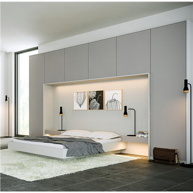 Zurfiz Supermatt Dust Grey & Supermatt Light Grey Fitted Bedroom