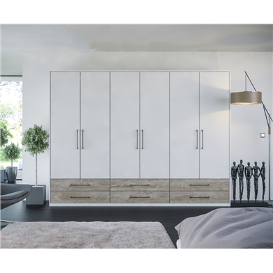 Zurfiz Supermatt Light Grey Driftwood Fitted Bedroom