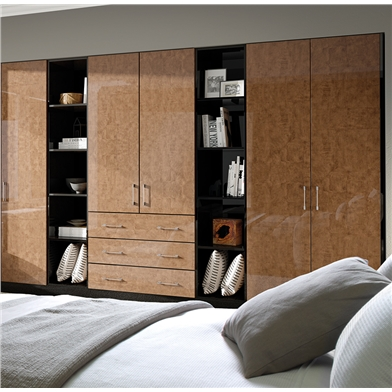 Zurfiz Ultra Gloss Copperleaf Fitted Bedroom