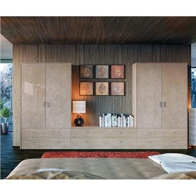 Zurfiz Ultra Gloss Limestone Wardrobe Doors