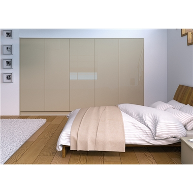 Zurfiz Ultra Gloss Metallic Champagne Fitted Bedroom