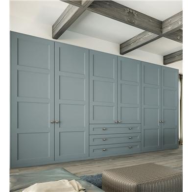 Fitted Bedroom with Aldridge Wardrobe Doors in Matt Denim finish
