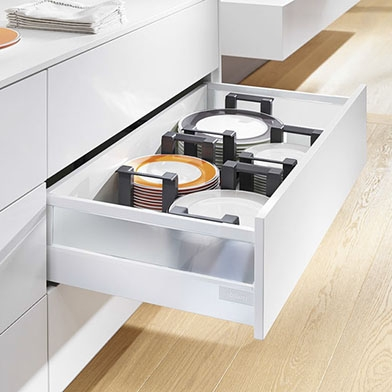 Frosted Glass Pan Drawers