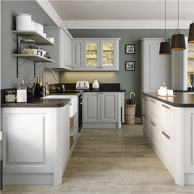 Bella Matt Dove Grey Kitchen