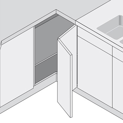 L Shaped Corner Wall Unit Buy Online From Doors Sincerely