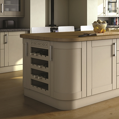 Shaker curved kitchen doors doors sincerely for Curved kitchen units uk