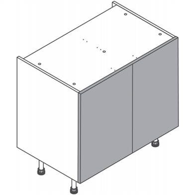 Hi Line Double Base with Door