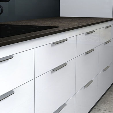 Edge Round Kitchen Cabinet Handle