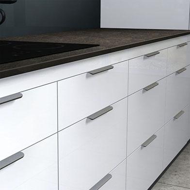 Edge Round Kitchen Cabinet Handle