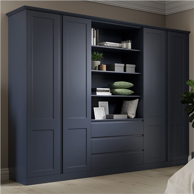 Elland Fitted Bedroom Finished in Indigo Blue