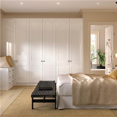 Bella High Gloss White Bedroom
