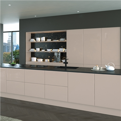 Bella High Gloss Cashmere Kitchen