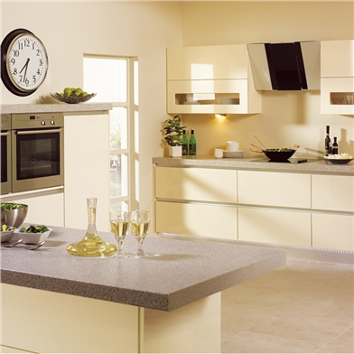 Bella High Gloss Cream Kitchen