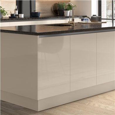 Clic Box Highline Double Base with Firbeck High Gloss Doors