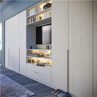 Bella Integra Oakgrain Grey Wardrobe Doors