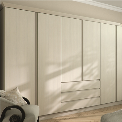 Fitted Bedroom with Knebworth Handle-less Wardrobe Doors and Drawer Fronts