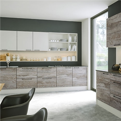 Driftwood Light Grey and Supermatt Light Grey Kitchen